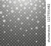 christmas snow. falling... | Shutterstock .eps vector #1227551482