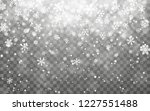 christmas snow. falling... | Shutterstock .eps vector #1227551488