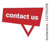 contact us sign label. contact... | Shutterstock .eps vector #1227552298