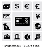 vector black credit card icons...