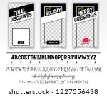 merry christmas sale. editable... | Shutterstock .eps vector #1227556438
