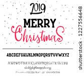 merry christmas 2019. new year... | Shutterstock .eps vector #1227556648