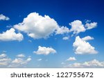 blue sky with cloud closeup | Shutterstock . vector #122755672