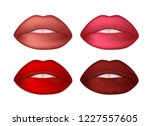 red sexy mate lips set. female...   Shutterstock .eps vector #1227557605