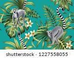 Tropical Vintage Lemur ...