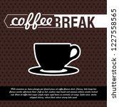 poster coffee break | Shutterstock .eps vector #1227558565