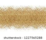 golden glitter confetti in a...   Shutterstock . vector #1227565288