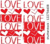 seamless pattern of love | Shutterstock .eps vector #122756608