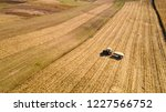aerial view of tractor working... | Shutterstock . vector #1227566752