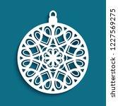 ornamental christmas bauble ...   Shutterstock .eps vector #1227569275