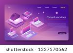 isometric cloud computing... | Shutterstock .eps vector #1227570562