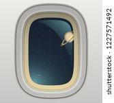 spaceship window  view of... | Shutterstock .eps vector #1227571492