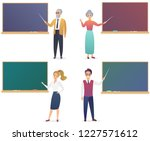 young man  woman  senior male... | Shutterstock .eps vector #1227571612