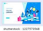 modern flat design concept of... | Shutterstock .eps vector #1227573568