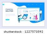 modern flat design concept of... | Shutterstock .eps vector #1227573592