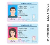 driver license or id card with... | Shutterstock .eps vector #1227575728
