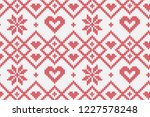 winter holiday seamless knitted ... | Shutterstock .eps vector #1227578248