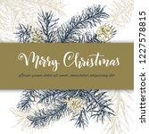 christmas sketch hand drawn... | Shutterstock .eps vector #1227578815