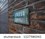 italian sign indicating a... | Shutterstock . vector #1227580342