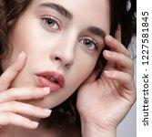closeup beauty portrait of... | Shutterstock . vector #1227581845