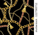 chain and necklace pattern | Shutterstock . vector #1227585712