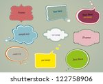 vector  olor speech bubbles set.... | Shutterstock .eps vector #122758906