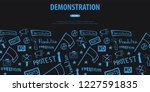 demonstration  manifestation ... | Shutterstock .eps vector #1227591835