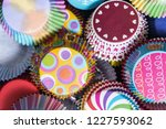 colorful cupcakes paper... | Shutterstock . vector #1227593062