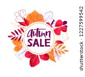 it is wreath of autum leaves... | Shutterstock .eps vector #1227599542