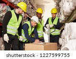 order pickers and logistics...   Shutterstock . vector #1227599755