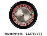 Roulette Wheel Isolated On...
