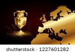 golden low poly euro cup banner.... | Shutterstock .eps vector #1227601282