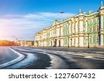 winter palace on palace square... | Shutterstock . vector #1227607432