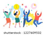 mini people business concept.... | Shutterstock .eps vector #1227609532