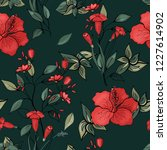 blossom floral seamless pattern.... | Shutterstock .eps vector #1227614902