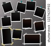 set of blank retro frames with...   Shutterstock .eps vector #1227623932