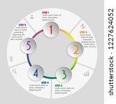 vector infographic design... | Shutterstock .eps vector #1227624052