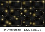 gold shiny glowing frames set... | Shutterstock .eps vector #1227630178
