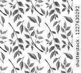 seamless black white pattern of ... | Shutterstock . vector #1227630292