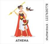 athena greek goddess from... | Shutterstock .eps vector #1227630778