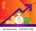 new pile of cash. profit ... | Shutterstock .eps vector #1227631798