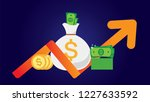 new pile of cash. profit ... | Shutterstock .eps vector #1227633592