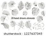 collection of 28 tropical... | Shutterstock .eps vector #1227637345