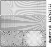 comic book monochrome concept... | Shutterstock .eps vector #1227638722