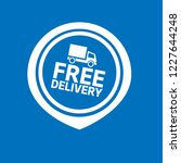 free delivery icon and map pin. ...