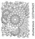 mandala pattern in black and... | Shutterstock . vector #1227645625