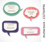 speech bubbles | Shutterstock .eps vector #122764996