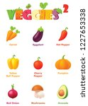 vector vegetables icon set.... | Shutterstock .eps vector #1227653338