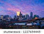 boston city skyline with...   Shutterstock . vector #1227654445