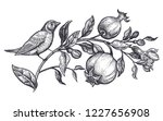 decoration with bird and... | Shutterstock .eps vector #1227656908